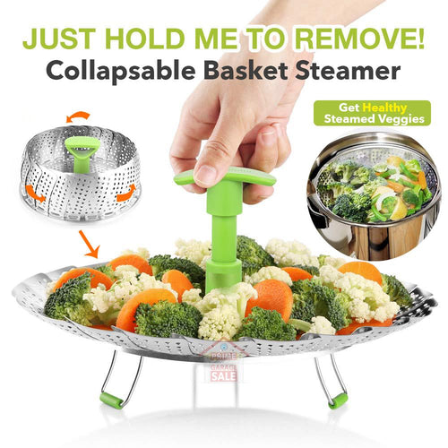 Collapsable Basket Steamer
