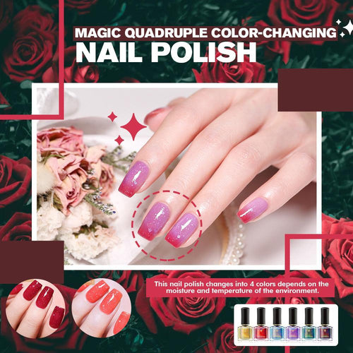 Magic Quadruple Color-changing Nail Polish