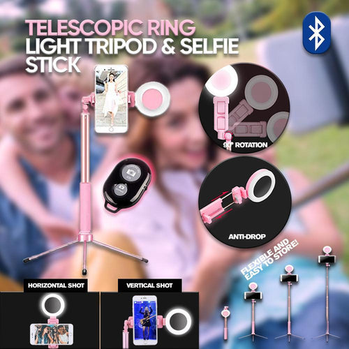 Telescopic Ring Light Tripod & Selfie Stick