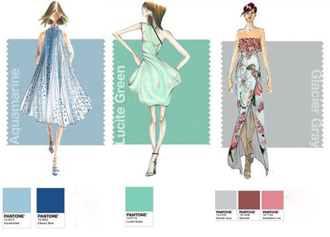 Pantone Spring 2015 Colors: Aquamarina, Lucite Green, Glacier Gray