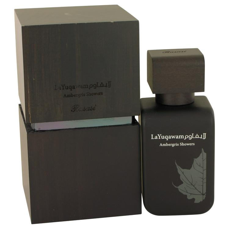 Ambergris Showers by Rasasi Eau De Parfum Spray 2.5 oz for Men - Chaos Fragrances