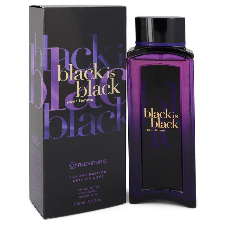 Black is Black by Nu Parfums Eau De Parfum Spray 3.3 oz for Women - Chaos Fragrances
