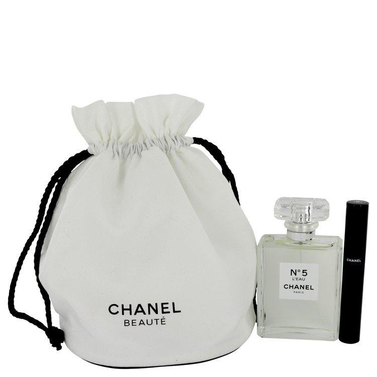 Chanel No. 5 L'eau by Chanel Gift Set -- 3.4 oz Eau De Toilette Spray + Le Volume 10 Mascara in Gift Pouch for Women - Chaos Fragrances