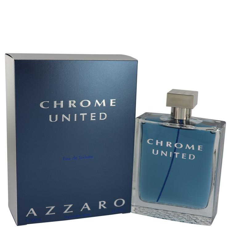 Chrome United by Azzaro Eau De Toilette Spray for Men - Chaos Fragrances