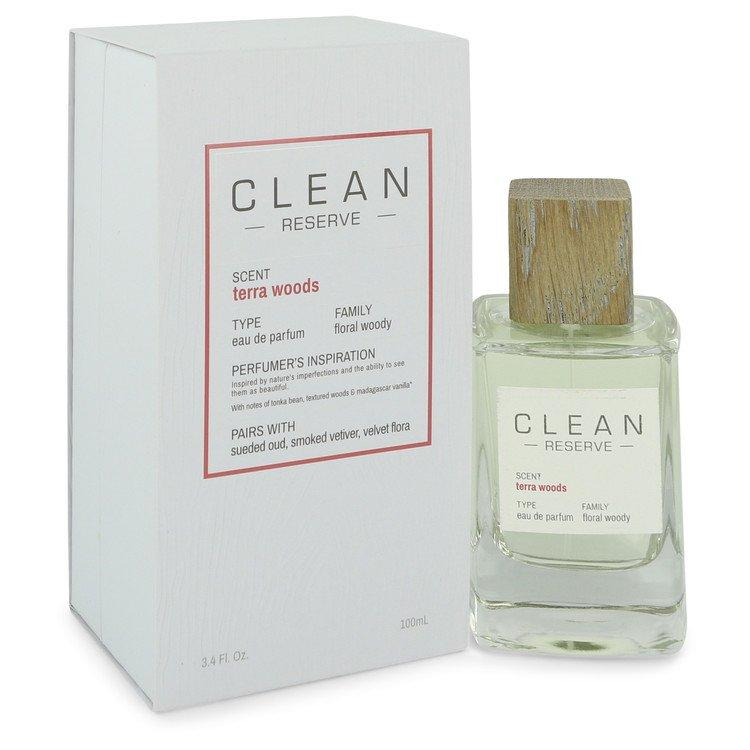 Clean Terra Woods Reserve Blend by Clean Eau De Parfum Spray 3.4 oz for Women - Chaos Fragrances