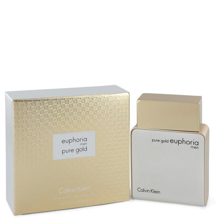 Euphoria Pure Gold by Calvin Klein Eau De Parfum Spray 3.4 oz for Men - Chaos Fragrances