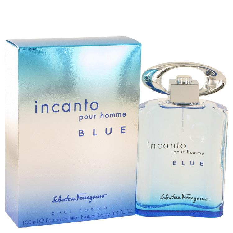 Incanto Blue by Salvatore Ferragamo Eau De Toilette Spray 3.4 oz for Men - Chaos Fragrances