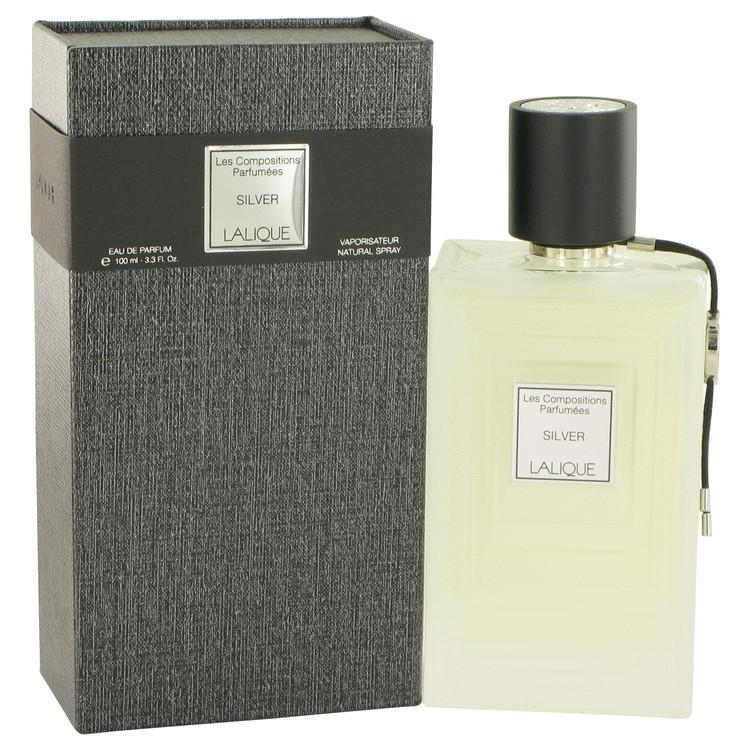 Les Compositions Parfumees Silver by Lalique Eau De Parfum Spray 3.3 oz for Women - Chaos Fragrances