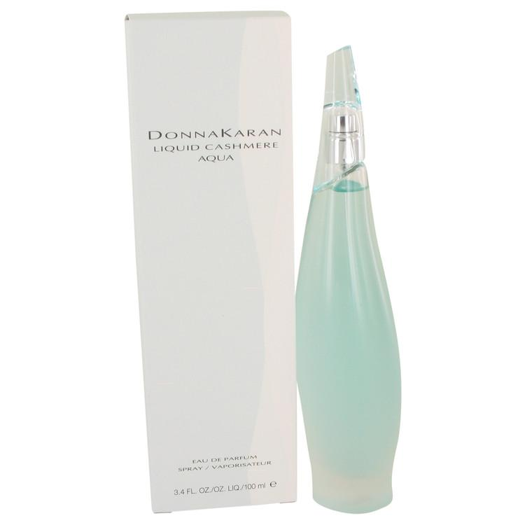Liquid Cashmere Aqua by Donna Karan Eau De Parfum Spray 3.4 oz for Women - Chaos Fragrances