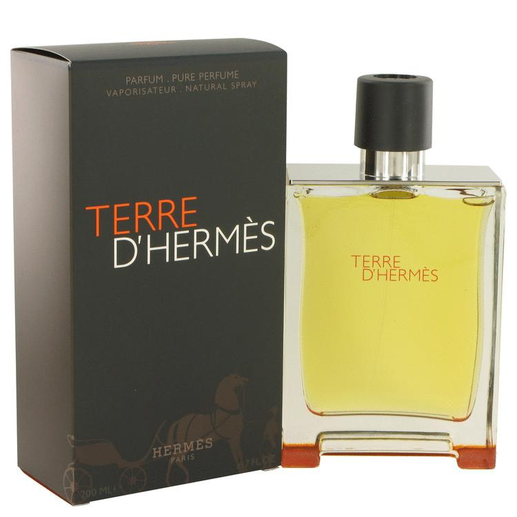 Terre D'Hermes by Hermes Pure Perfume Spray 6.7 oz for Men - Chaos Fragrances