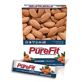 Almond Crunch PureFit Zone bars best by February 2019