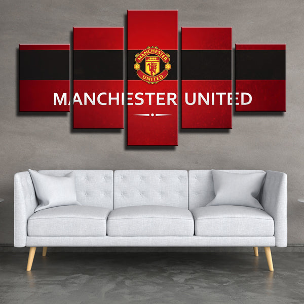 Manchester United Fc Logo Gl Canvas Print Art