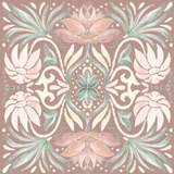 Floral Taupe Tile