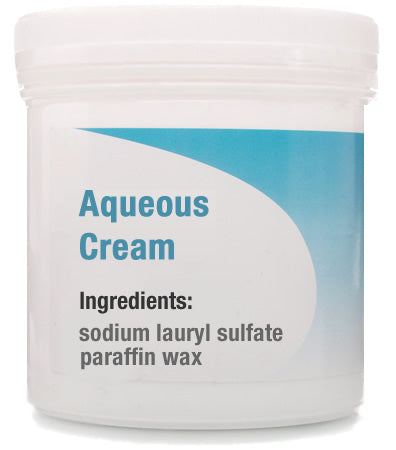 Aqueous Cream contains sodium lauryl sulfate, paraffin oil and white soft paraffin