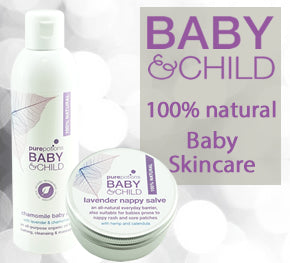 Baby and Child Skincare Set - includes Chamomile Baby Oil and Lavender Nappy Salve