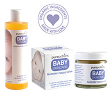 Baby Skincare Range - gentle and sensitive for babys skin - excellent for nappy rash, cradle cap, scalp oil