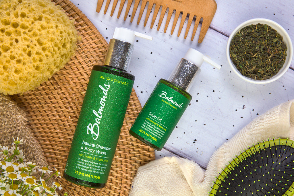 Balmonds Scalp oil and Shampoo