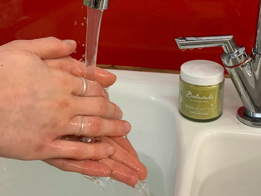 Balmonds balm for hand washing
