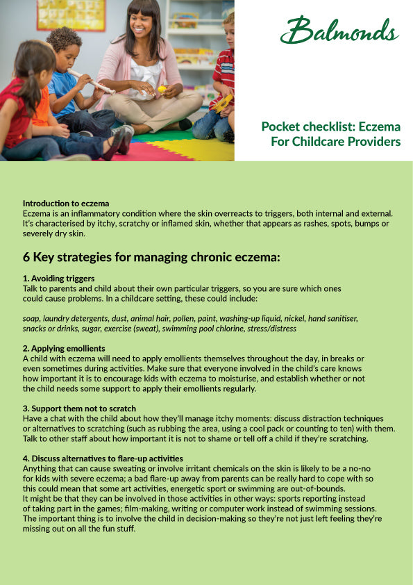Eczema: info sheet for Childcare Providers 1
