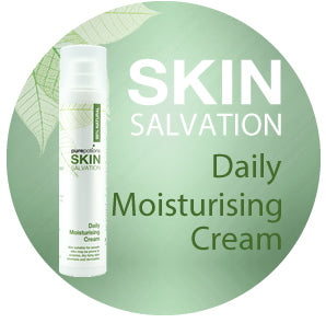 Skin Salvation Daily Moisturising Cream - Free from petro-chemicals, parabens and perfumes and safe for those prone to eczema, psoriasis, dermatitis and allergy prone skin.