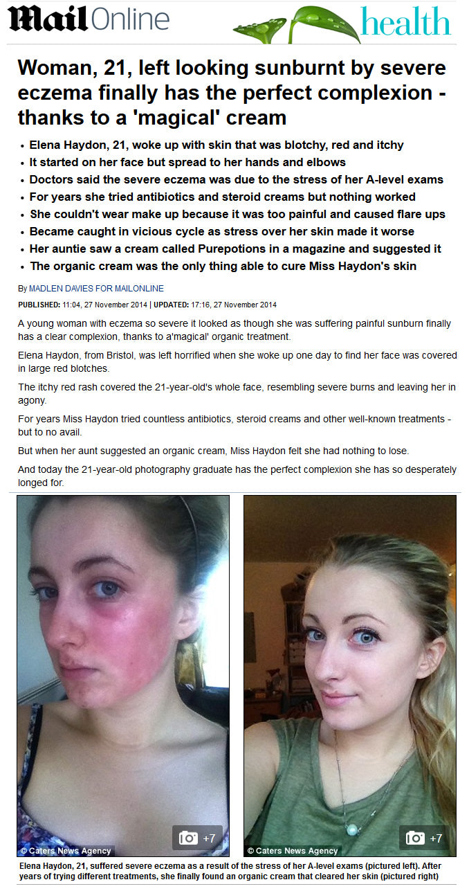 Purepotions Skincare's Skin Salvation in the Mail Online with Elena Haydon