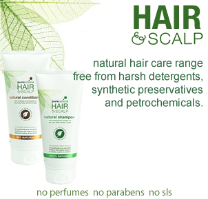 Hair and Scalp Range - ultra natural products to keep hair and scalp healthy
