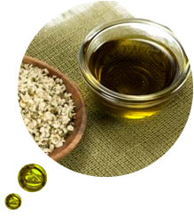 Hemp oil feeds essential fatty acids into the skin to help maintain a healthy skin balance