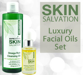 Luxury Facial Oils Set - includes Omega Rich Cleansing Oil and Intensive Facial Oil