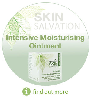 Skin Salvation Intensive Moisturising Ointment - 100% natural, safe and effective alternative to chemical based emollients. Suitable for those prone to eczema, psoriasis, dermatitis and other dry skin conditions
