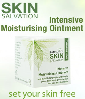 Skin Salvation Intensive Moisturising Ointment- a natural solution for those prone to eczema, psoriasis, dermatitis and other dry, sore skin conditions