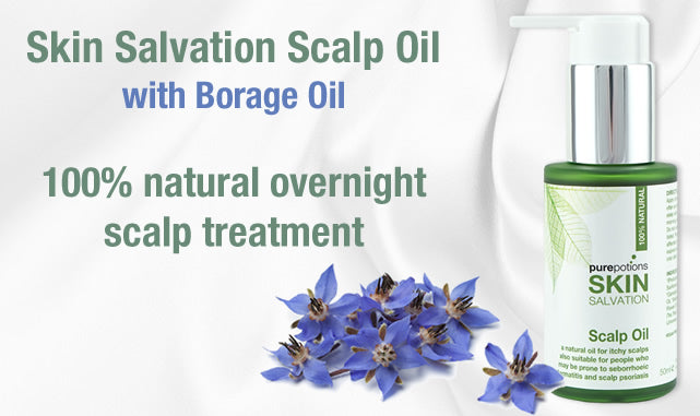 Skin Salvation Scalp Oil - 100% natural overnight scalp treatment for relief from dry, itchy, flaky scalp