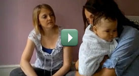 Baby Massage with Jo Kellet - demonstrating baby massage using Chamomile Baby Oil