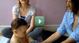 Baby Massage for Colic - Jo Kellet uses Chamomile Baby Oil