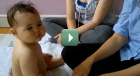 Baby Massage with Jo Kellet - using Purepotions Chamomile Baby Oil