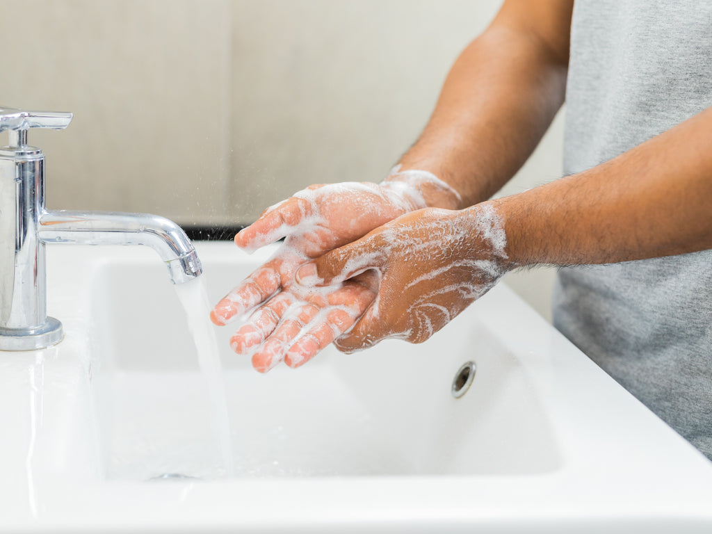 Treating over washed hands