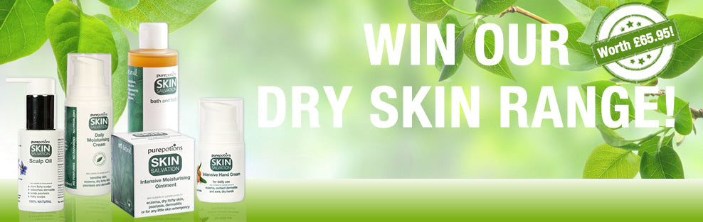 Enter our Prize Draw and you could win our complete Dry Skin Range of products