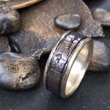 Stoned Band, Silver Ring, Beach Rock Ring