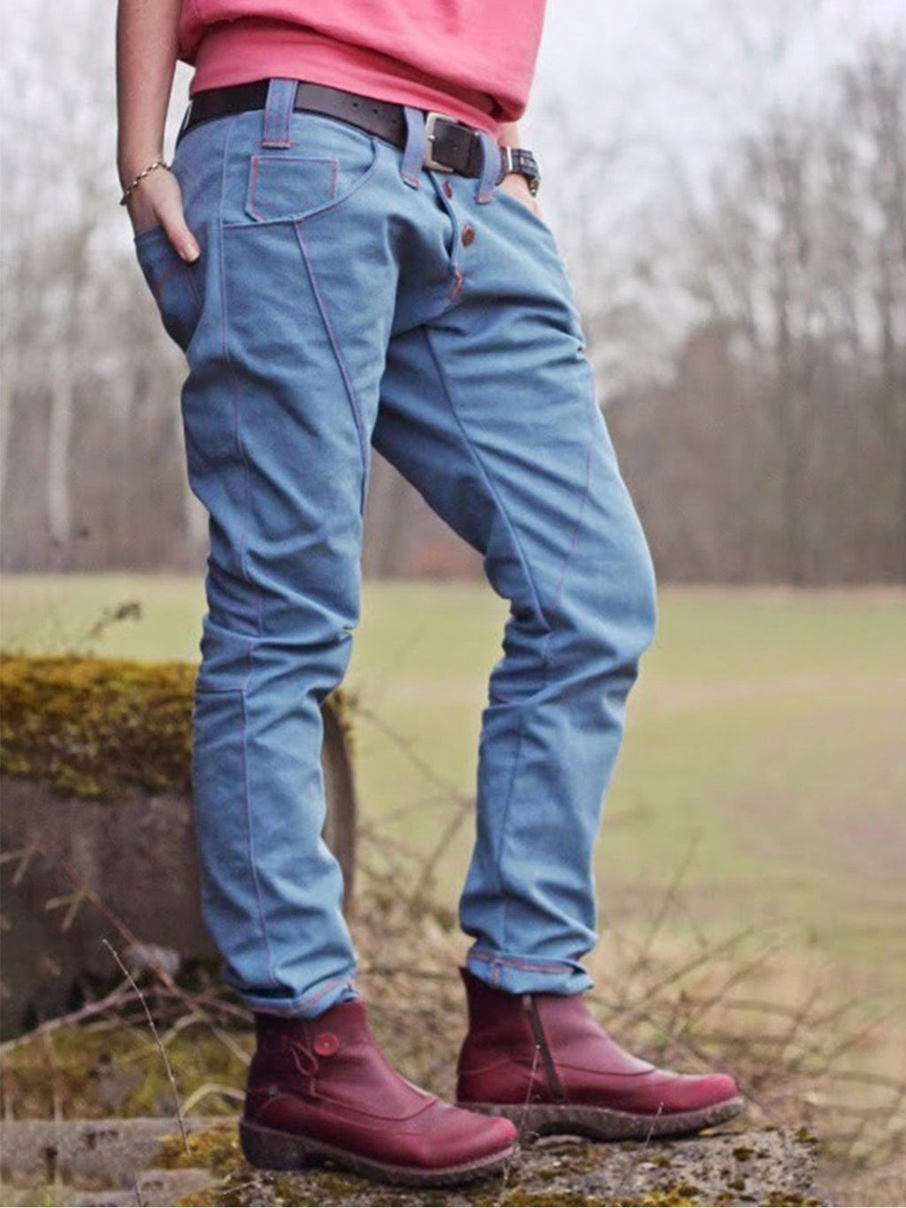 Autumn and Winter Multicolor Jeans