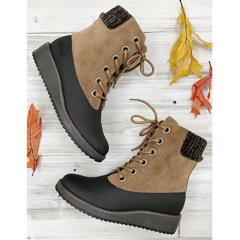 Winter Comfy Lace-up Boots