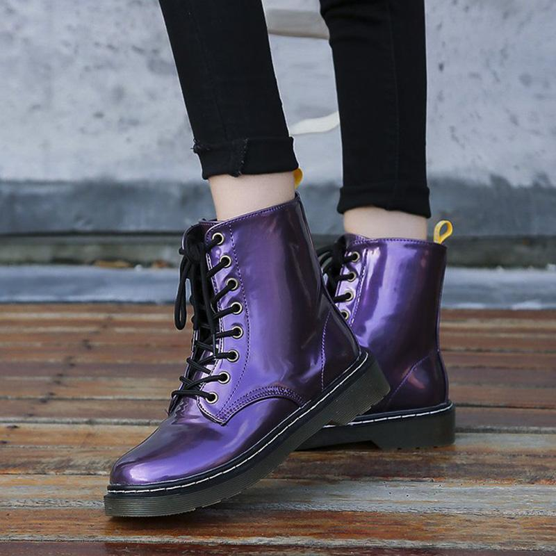 Chic Waterproof Lace-up Martin Boots