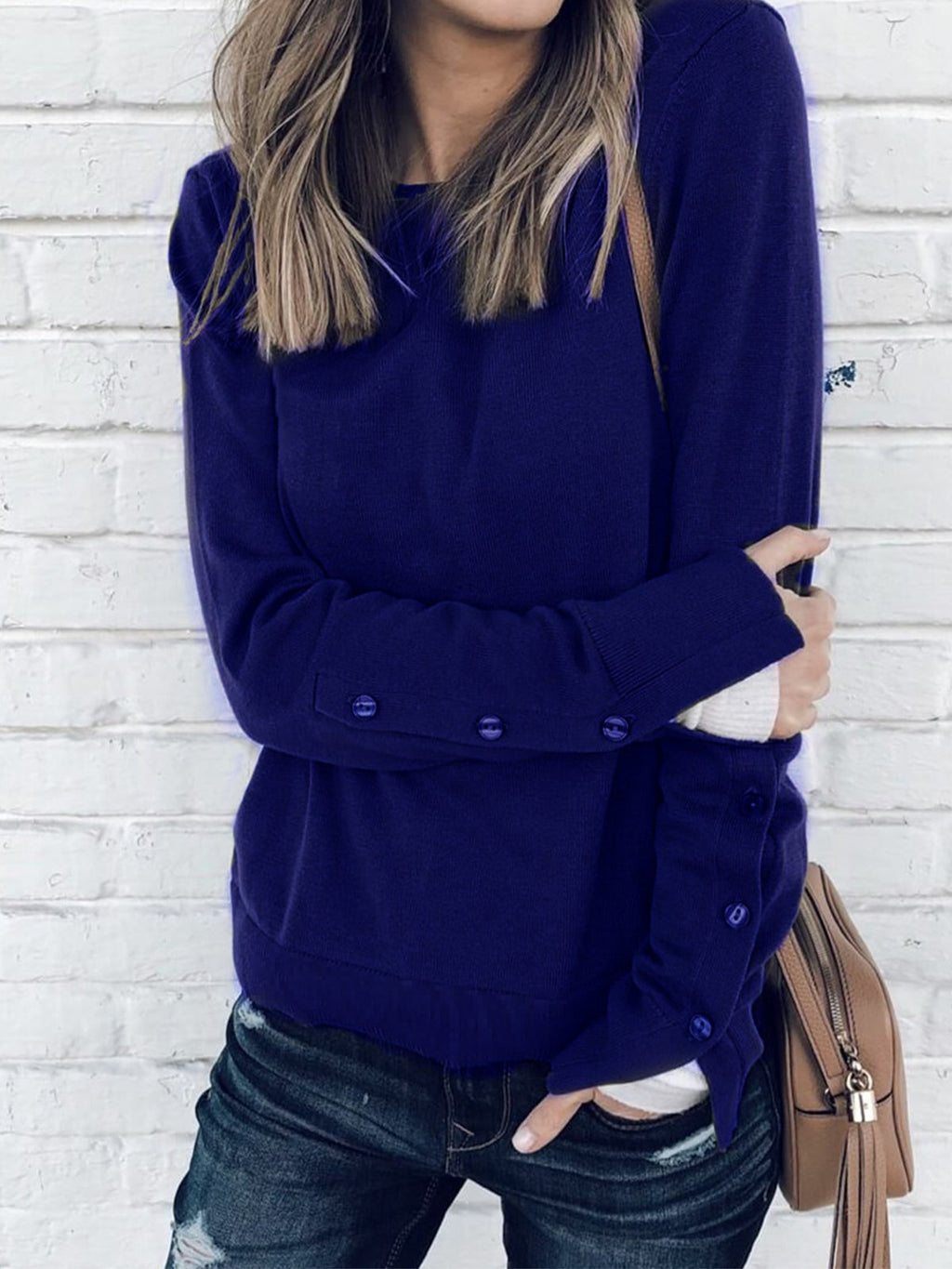 F/W Plus Size Crew Neck Long Sleeve Sweatshirt