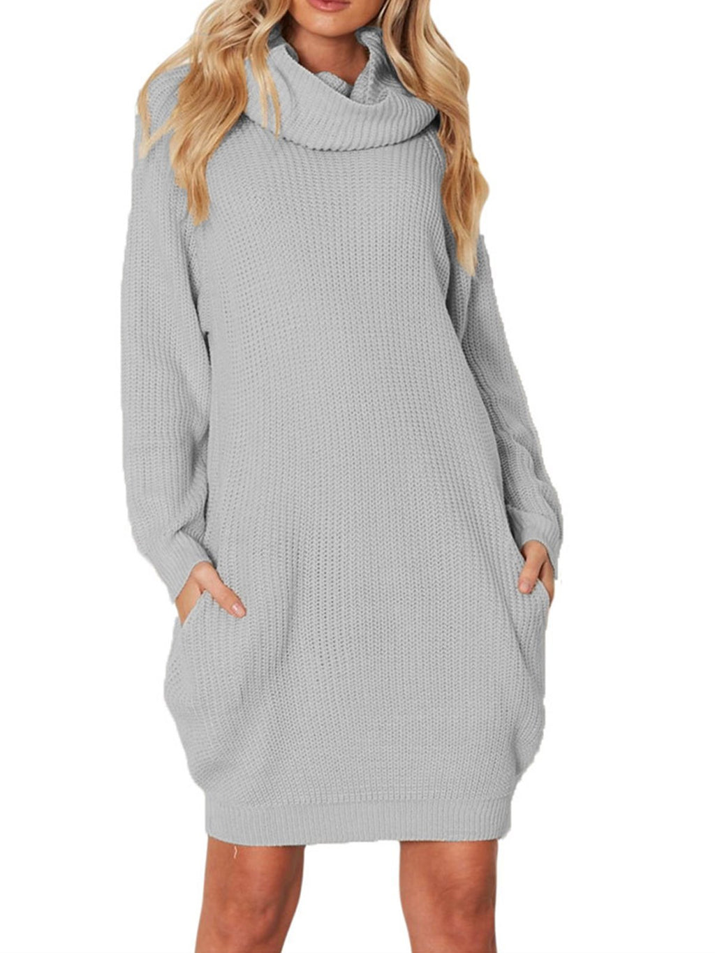 Midi Ribbed High-neck Ladies Knitted Sweater