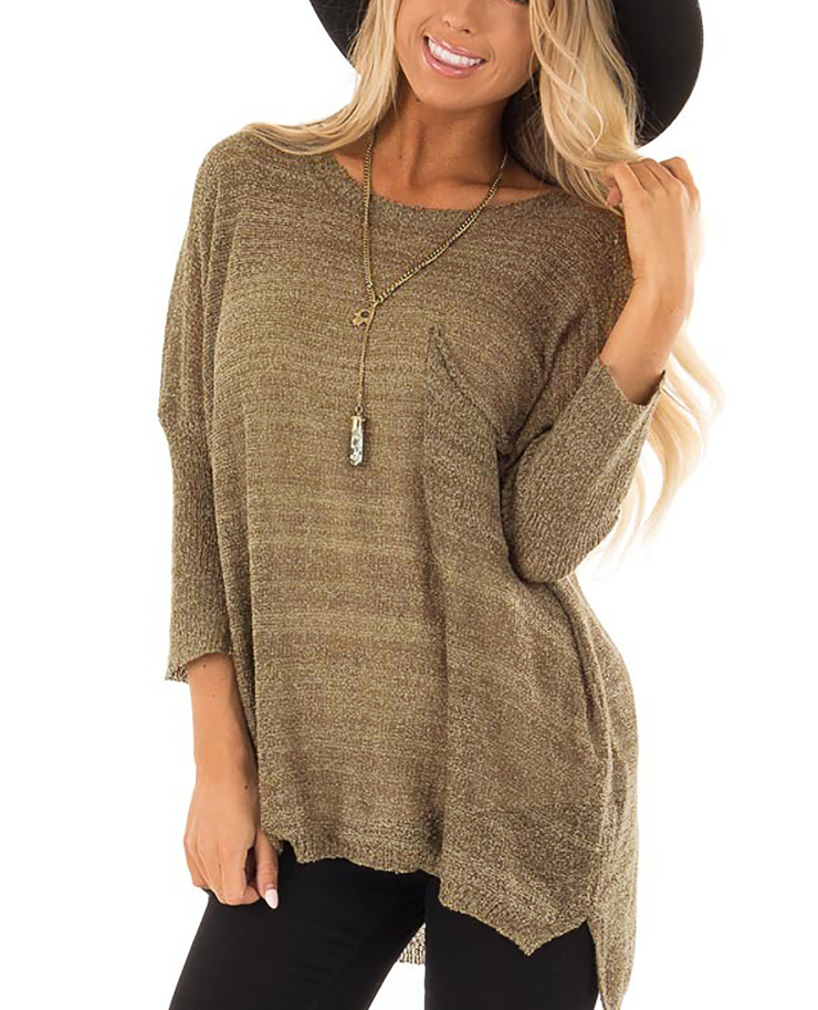 Leisure Loose Sleeve Knitted Sweater Blouse
