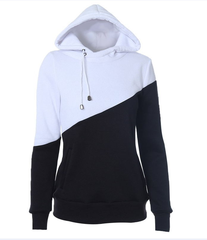 Casual Color-block Hoodie - CandyShe