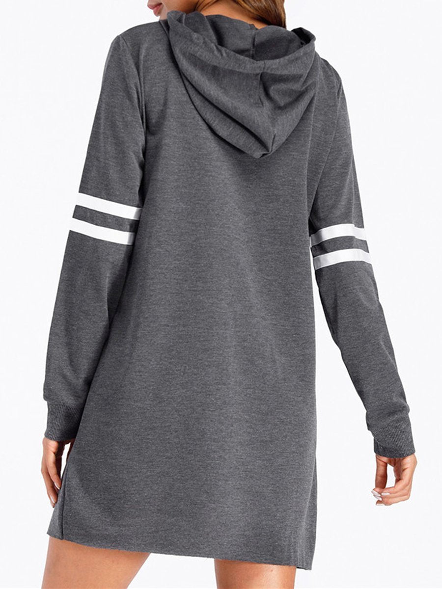 Striped Casual Long Hoodie Sweatshirt