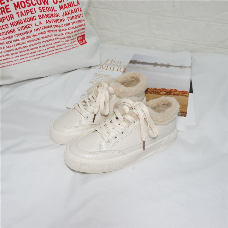 Artificial Leather Velour Sneakers - CandyShe