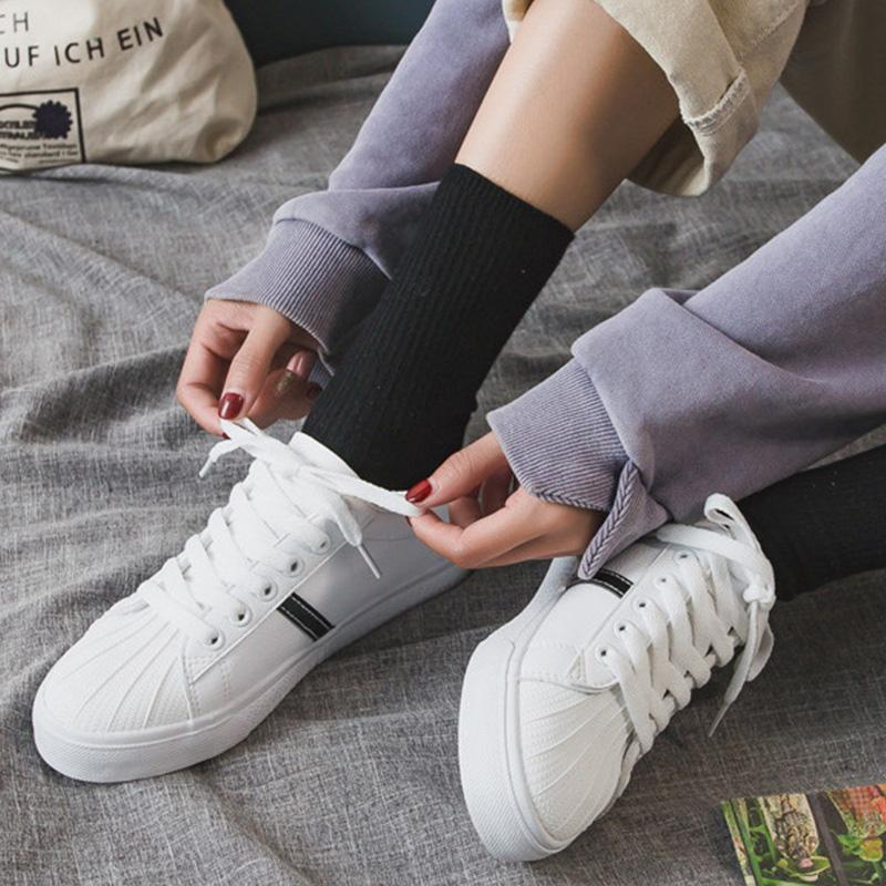Women's Street Style Flat Artificial Leather Casual Sneakers
