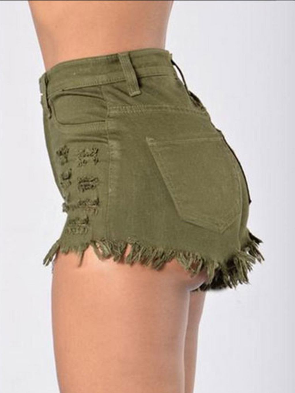 Sexy Women's Elastic Jeans Shorts