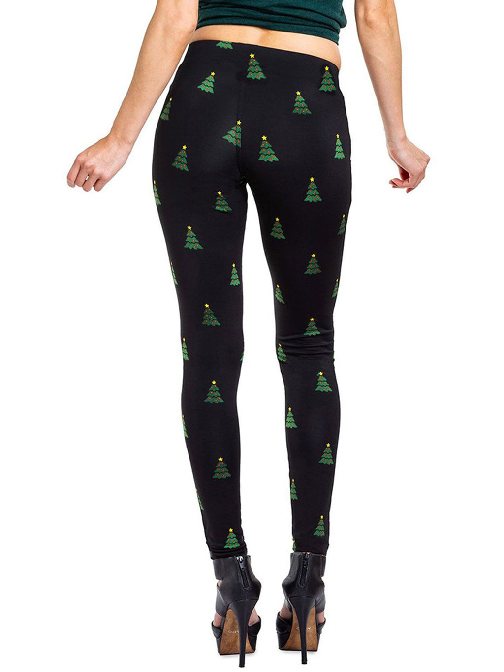 Xmas Theme Candy Cane Print Casaul Pants