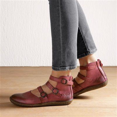 Buckle Strap Back Zip Round Toe Women Sandals